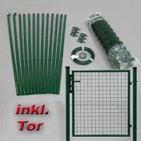 Zaunsets inkl. Tor grün