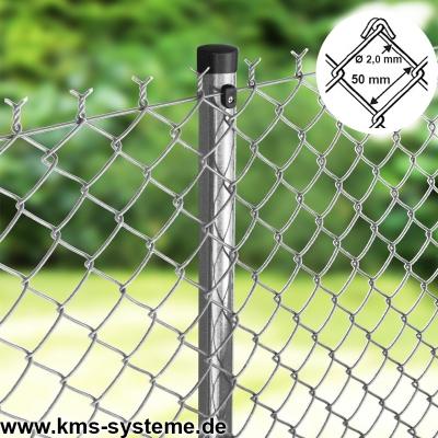 50 x SCHELLE 50x50mm verzinkt für Geflechtspannstäbe Maschendrahtzaun Zäun 50mm