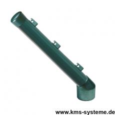 Stacheldrahtaufsetzer grün mit Aluminiumwinkel grün 48/42/300 mm