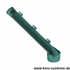 Stacheldrahtaufsetzer grün mit Aluminiumwinkel grün 60/42/300 mm
