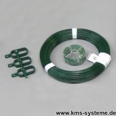 Zaun Kit grün für Maschendrahtzäune