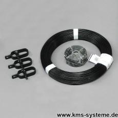 Zaun Kit schwarz für Maschendrahtzäune
