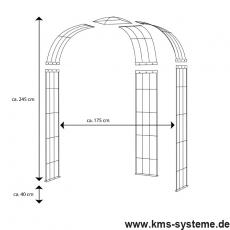 Pavillon 3-armig feuerverzinkt ca. 2450x1750x1100 mm