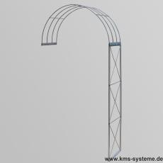 Rosenbogen 2-tlg. Kreuz feuerverzinkt ca. 2300x1200x400 mm