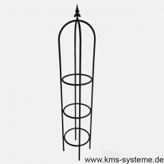 Obelisk Gothica 150 cm fvz. + schwarz Ø ca. 30 cm