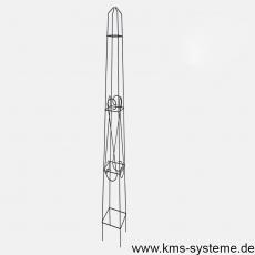 Obelisk Orelia quadratisch 170 cm schwarz
