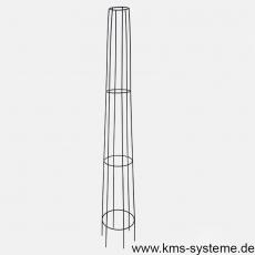 Obelisk Venecia rund 170 cm schwarz pulverbeschichtet