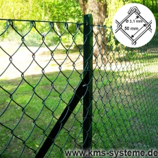 Profi-Set T-Profilpfosten Maschendraht 25m grün 50 x 50 x 3,1 mm