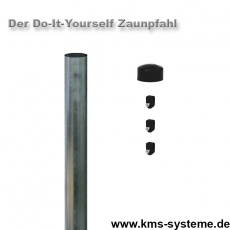 Do-It-Yourself Zaunpfahl feuerverzinkt Ø42mm