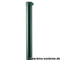 Zaunpfahl Ø60mm verzinkt + grün mit Ösenkappe