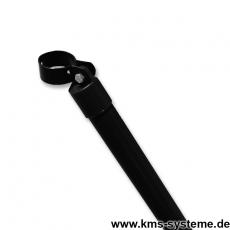 Zaunstreben verzinkt + schwarz mit Schelle 76mm