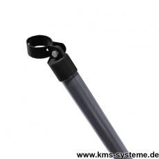 Zaunstrebe verzinkt + anthrazit Ø42mm mit Schelle 76mm