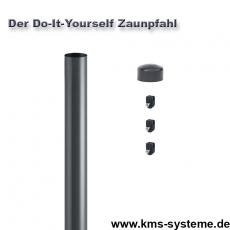Do-It-Yourself Zaunpfahl verzinkt + anthrazit Ø34