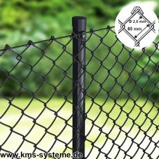 Maschendraht 25m schwarz Maschung 60x60mm, 2,8mm Drahtstärke