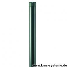 Zaunpfahl Ø42mm verzinkt + grün ohne Drahthalter