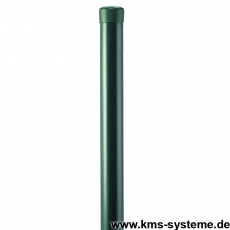 Zaunpfahl Ø34mm verzinkt + grün ohne Drahthalter