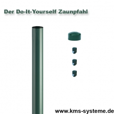 Do-It-Yourself Zaunpfahl Ø60mm verzinkt + grün
