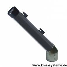 Stacheldrahtaufsetzer anthrazitgrau mit Aluminiumwinkel Ausleger 42x250 mm