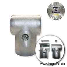T-Schelle aus Aluminium für Ø 60mm Barrieren - Rohre