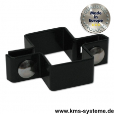 Mittelschelle schwarz 60 x 40 mm
