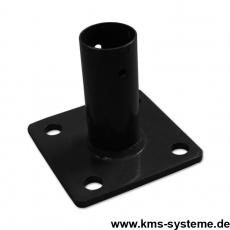 Standfuß für Pfosten 34 + 42 mm schwarz