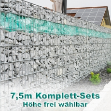 Gabionenzaun-Set 6-5-6 feuerverzinkt 7,5m