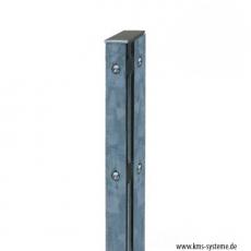 Eckpfosten Schiene für Industriezäune 60 x 40 mm feuerverzinkt