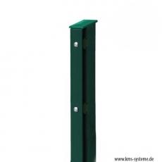 Rechteckpfosten Schiene für Industriezäune 60 x 40 mm fvz + pulverbeschichtet
