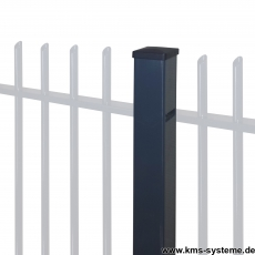 Zaunpfosten PROTECTION feuerverzinkt + pulverbeschichtet 60 x 60 mm