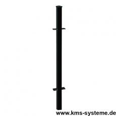 Zaunpfosten OPTIMA feuerverzinkt + schwarz 40 x 40 mm