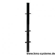 Zaunpfosten DECORA feuerverzinkt + schwarz 40 x 40 mm