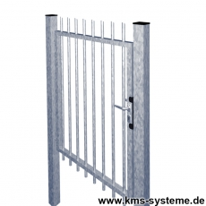 Frontgittertor PROTECTION feuerverzinkt 1000 mm breit