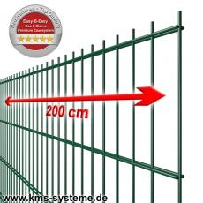 EASY-B-EASY Doppelstab-Zaunmatte fvz. + pulverbeschichtet grün RAL6005